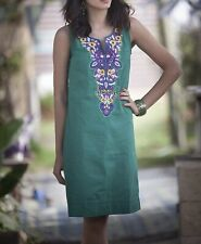 Women's Ethnic  Tribal Bohemian Dress, Kaftan Short Summer Dress Size S.