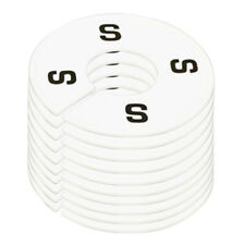 10 Pc Clothing Rack Size S Small Marks Dividers Ring Hangers White Plastic Round