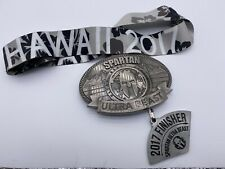 Rare 2017 Spartan Race Hawaii Ultra Beast Medal W/Wedge