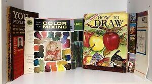Lot of 29 Vintage ART Instruction Books Draw, Paint WALTER FOSTER - GRUMBACHER