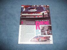"Jerry Haas 1992 Oldsmobile Cutlass Pro Stock Article ""All-Star Ride"""