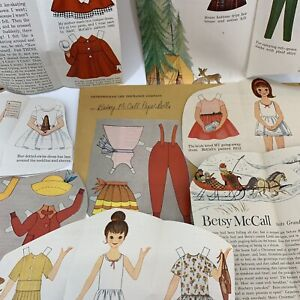 Vintage Betsy McCall Paper Doll Magazine Cutouts