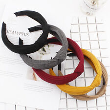 Women's Solid Hairband Twisted Knot Headband Headwrap Hair Band Hoop Accessories