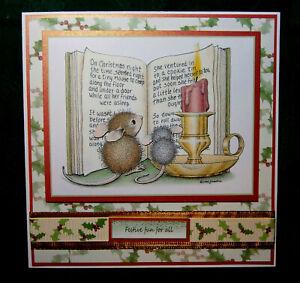 Decoupage `House Mouse` card to send `Festive Fun`