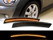 02-08 Mini Cooper R50/R52/R53 Smoke Amber LED Front Bumper Side Marker