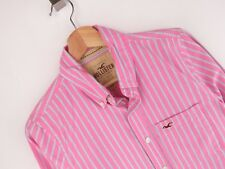 nv122 HOLLISTER Camisa Top Original PREMIUM VINTAGE RAYAS ROSA TALLA S