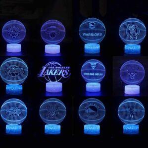 3D NBA Basketball Tischlampe Nachtlicht Nachttischlampe Geburtstag Gift LED DE