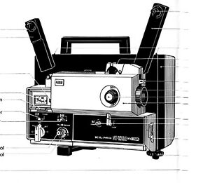 Elmo ST-180E Super 8MM Sound Projector User Manual PDF on CD-ROM