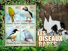 Togo - 2019 Rare Birds on Stamps - 4 Stamp Sheet - TG190221a