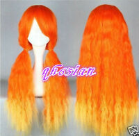 Multi-Color Mixed Lolita wig Curly Long Orange mix Anime Cosplay wig