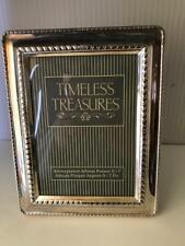 Timeless Treasures Silverplated Photo Album Frame 5X7 Plaque Argent