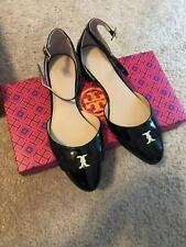 New In Box - Tory Burch Gemini Link Bow Ankle Loafer Flat Patent Port 7.5