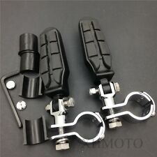 """For Suzuki VL1500 800 125 250 VZ800 1"""" 1 1/4"""" Tombstone Clamp Front Foot pegs"""