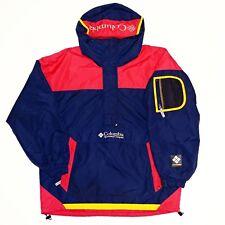 90s Columbia Sport TECH Anorak Jacket Vintage Vtg Hype Color Block Rare Ski Logo