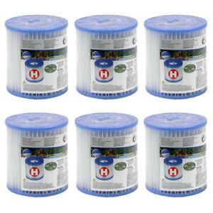 6 x INTEX Filter Filterkartusche Ersatzfilter Typ H 29007 für Pool Pumpe