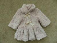 Matalan Baby Girls Age 3- 6 Months Teddy Bear Soft coat