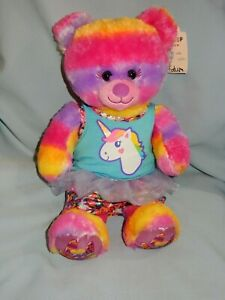 """Build A Bear Tropical popsicle Bear 16"""" in Unicorn Outfit"""