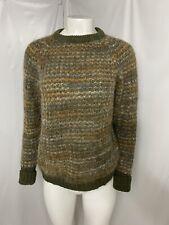 Handmade Scotland Knitwear Sweater Shetland Wool Mohair Cotton Long Sleeve
