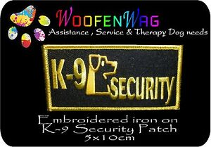 K-9 SECURITY Dog patch  5x10cm Embroidered iron on