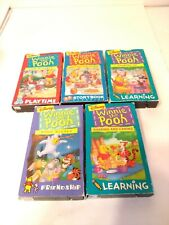 Lot of 5 Vintage Disney Winnie The Pooh VHS Tapes