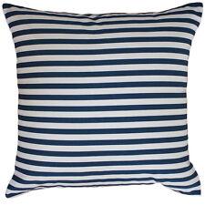 SALE Hamptons Coastal Beach House Style Navy & White Thin Striped Cushion Cover