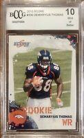 2010 Score #330 Demaryius Thomas Rookie Beckett 10 Mint+ Condition BCCG Broncos