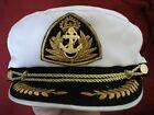 Captain Hat Sailor Cap Skipper Boat Marine Unisex  ONE SIZE FITS MOST