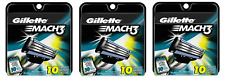 Gillette Mach3 Mens Refill Razor Blade Cartridges - 30 Cartridges
