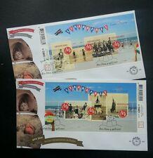 Holland Summer Stamp 2007 Fun At Beach Netherlands Children Kites (Fdc pair)