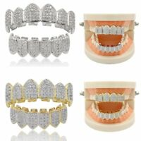 18K Gold Silver with Plated Top & Bottom Grillz Mouth Teeth Grills High Quality