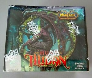 New & Sealed THE HUNT FOR ILLIDAN Box World of Warcraft TCG Blizzard Upper Deck