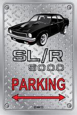 Parking Sign - Metal - Holden Torana SLR 5000 BLACK-  ORIGINAL RIMS