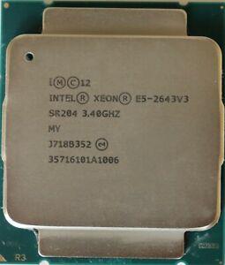 Intel Xeon E5-2643 V3 3.4GHz 6 Core 20M 135W LGA2011-3 22nm Server CPU SR204