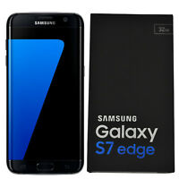 BNIB Samsung Galaxy S7 Edge SM-G935F 32GB Black Factory Unlocked 4G/LTE Simfree