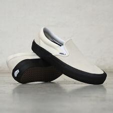 115c9b5aca65 Vans Slip On Pro Classic White Black Men s Classic Skate Shoes Size 13