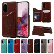 10pcs/lot Cat tree Shatter-Resistant Leather Back Case for iPhone 12 Samsung