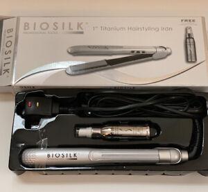 "BioSilk 1"" Titanium Hairstyling Iron + BioSilk Hot Thermal Protectant Mist NEW"