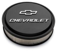 Proform 141-830 CHEVROLET DIE-CAST SLANT-EDGE AIR CLEANER KIT, Black Crinkle