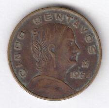 MEXICO 1964 5 centavos  - KM#426  -Josefa Ortiz de Dominguez-  Brass  R.78
