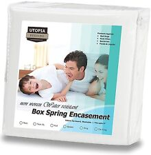 Zippered Box Spring Encasement 3-Sided King - Bed Bug Proof, Water -