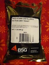 One Pound Red Star DADY Dry Active Distillers Yeast ~ 1 LB FRESH BSG Gold Foil
