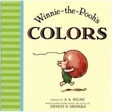 Winnie-The-Pooh: Winnie the Pooh's Colors by A. A. Milne (2009, Board Book)