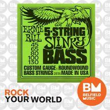 Ernie Ball 2836 Bass Guitar Strings 5-String Roundwound Regular Slinky 45-130