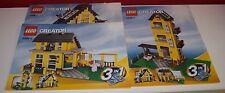 Lego Creator 3 in 1,Haus Ferienhaus,4996-1,-2,-3,Instructions Manuel,ohne Steine