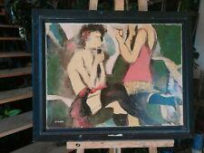 huile sur toile - 2 amies   - signée  GINOUX
