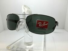 AUTHENTIC RAYBAN RB3527 029/71 MATTE GUNMETAL/GREEN 3527