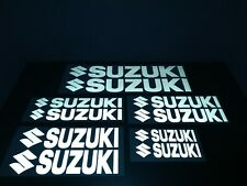 10 - SUZUKI REFLECTIVE DECALS STICKERS WITH (LOGO) and (WITHOUT) FOR MOTORCYCLE
