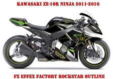 FX  FACTORY DEKOR KIT KAWASAKI NINJA 250,350,650,ZX-6R,ZX-10R ROCKSTAR OUTLINE B