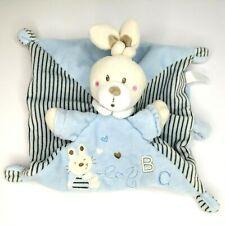 NICOTOY Hase Schmusetuch Blau Schnuffeltuch Simba Häschen Dame Kuschel Baby Süß