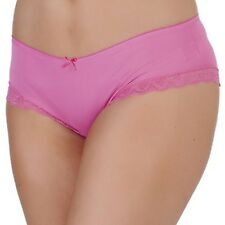 Ladies/Girls Underwear Pink High Leg Briefs High Quality with Lace Top Size 16